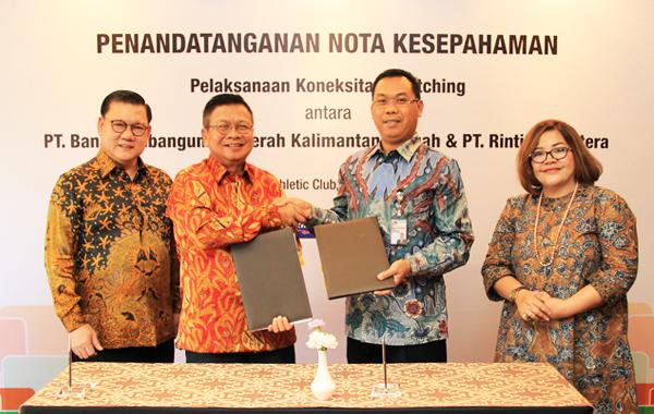 Penandatanganan Nota Kesepahaman  PT. Bank Pembangunan Daerah Kalimantan & PT Rintis Sejahtera.