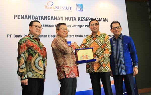 Penandatanganan Nota Kesepahaman  PT. Bank Pembangunan Daerah Sumatera Utara & PT Rintis Sejahtera.