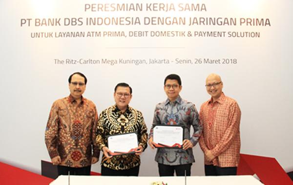 Peresmian Kerja Sama PT Bank DBS Indonesia dengan Jaringan PRIMA