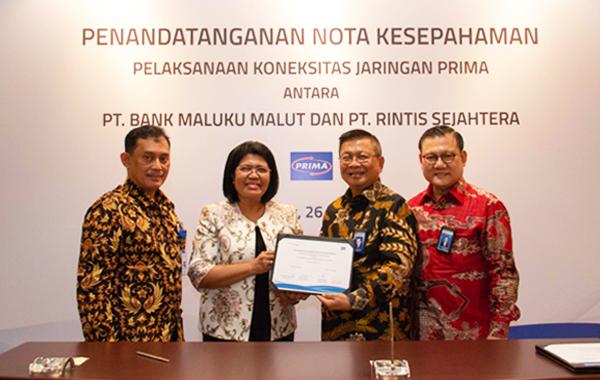 Penandatanganan Nota Kesepahaman antara Bank Maluku Malut dengan PT. Rintis Sejahtera