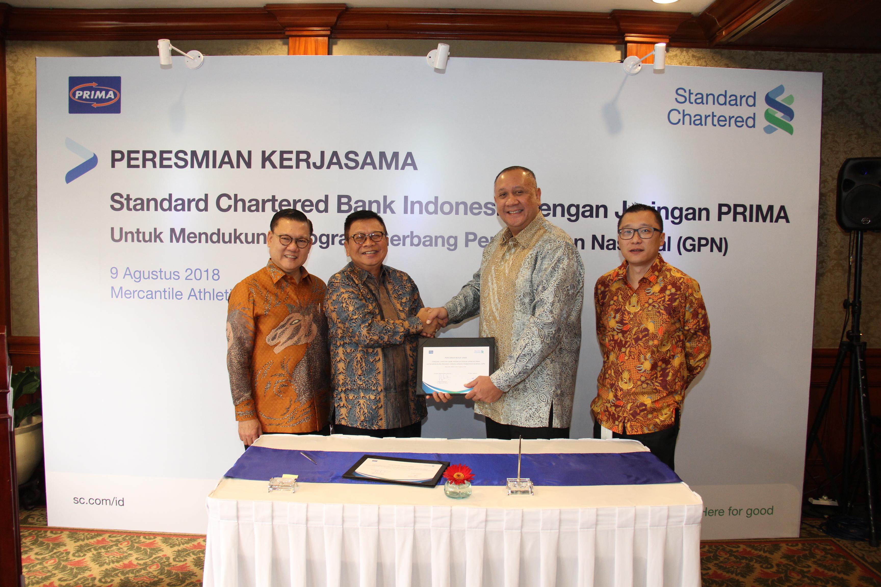 Peresmian Kerja Standard Chartered Bank dalam jaringan PRIMA