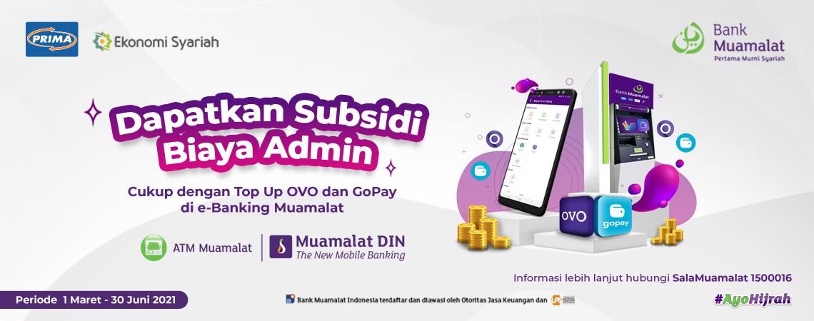 Program GOVO (Gopay & Ovo) subsidi biaya Admin Rp 5 Ribu