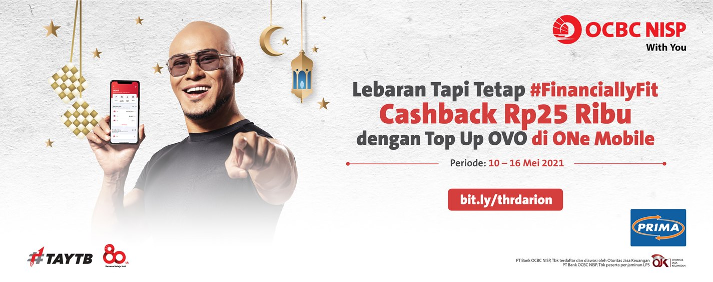 Cashback Rp25.000 Top Up OVO di ONe Mobile