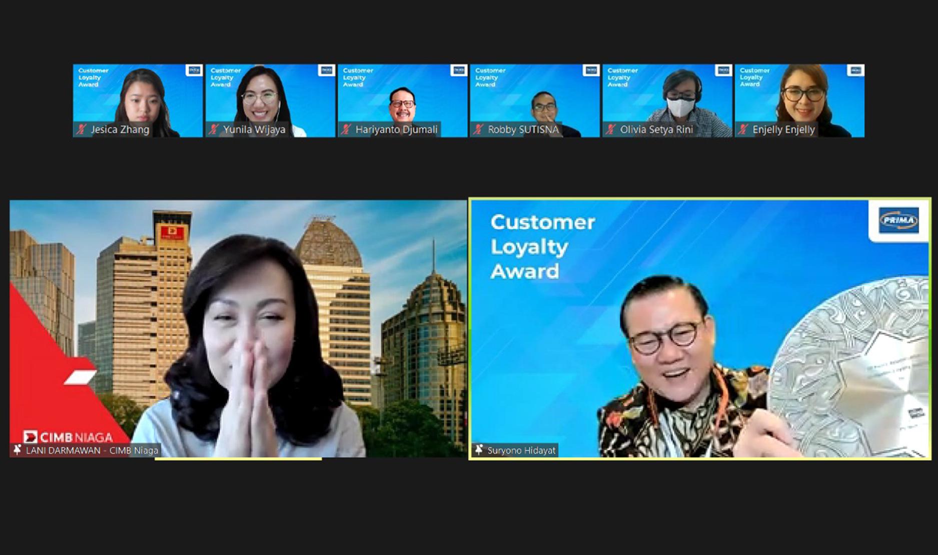 10th Years Appreciation Customer Loyalty Award - Bank CIMB Niaga x Jaringan PRIMA