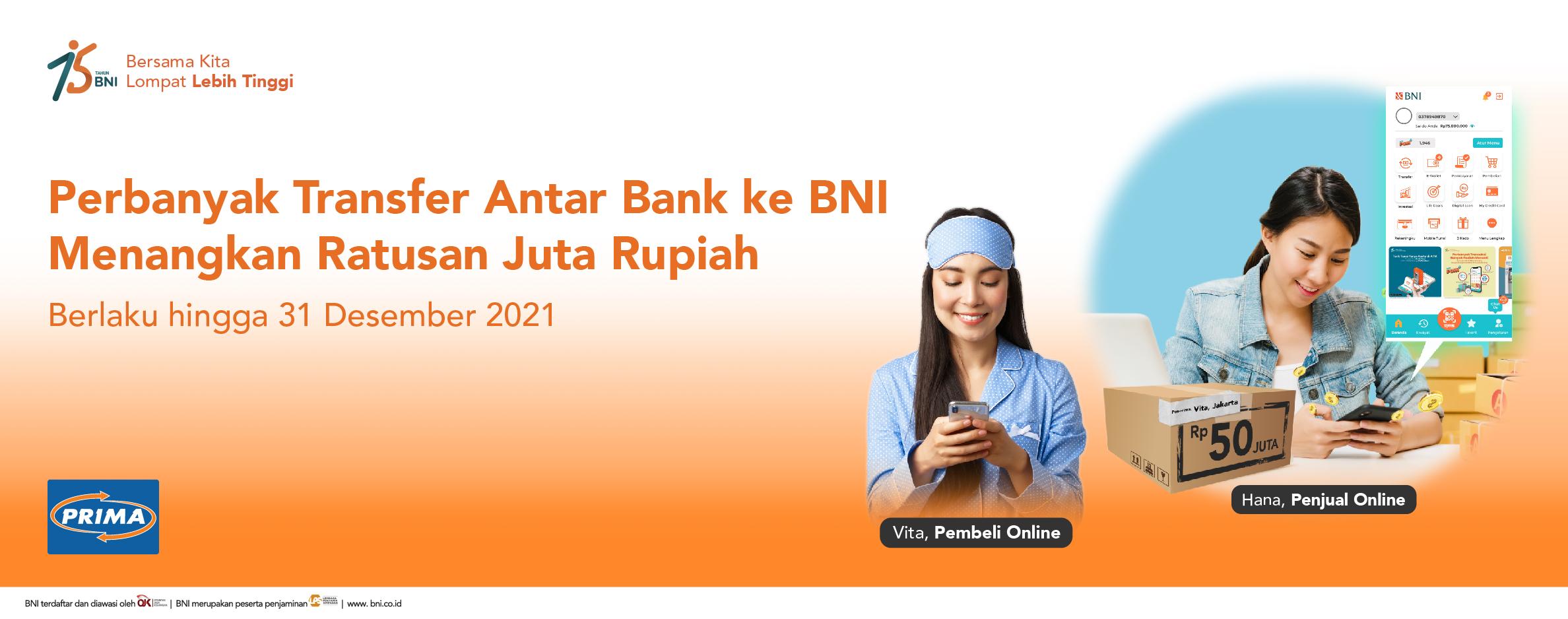 Incoming Transfer BNI 2021