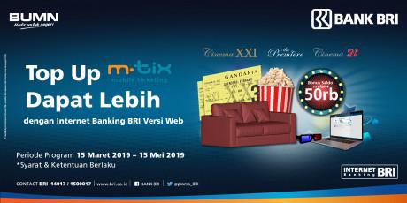 Top-up MTIX Dapat Lebih dengan Internet Banking BRI Versi Web