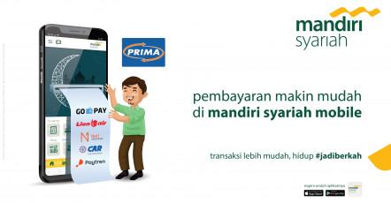 Pembayaran makin mudah di mandiri syariah mobile