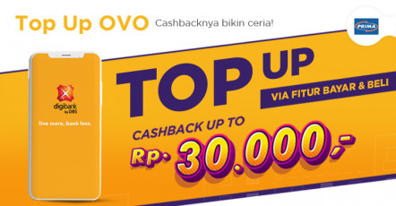 Top up OVO via Bayar & Beli Cashback up to Rp30.000