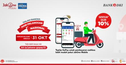 Top-Up GoPay melalui JakOne Mobile