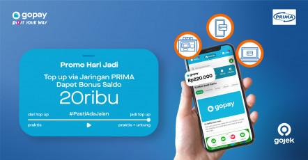 Promo Bank Oktober 2020: Bonus Rp20.000 Top Up via Channel Jaringan PRIMA